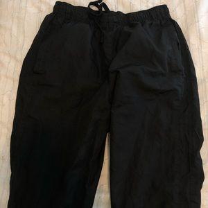 Black wind breaker pants